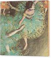 The Green Dancer Wood Print