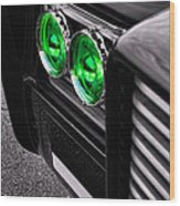 The Green Hornet - Black Beauty Close Up Wood Print