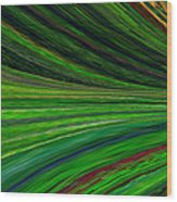The Green Movement Wood Print by Rita Nordal