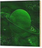 The Green Planet Wood Print