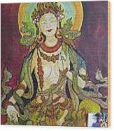 The Green Tara Wood Print