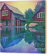 The Guest Cottage Wood Print by Kevyn Bashore