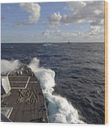 The Guided-missile Destroyer Uss Nitze Wood Print