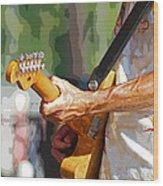 The Guitar Player Wood Print
