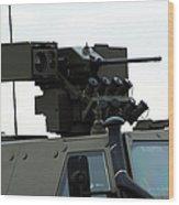 The Gun Mounted On Top Of The Dingo II Wood Print
