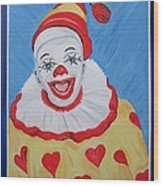 The Happy Clown Wood Print
