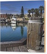 The Harbour At Mindarie Wood Print
