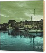 The Harbour At Padstow Wood Print