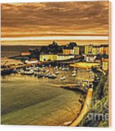 The Harbour At Tenby  Wood Print