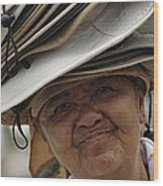 The Hat Lady Costa Rica Wood Print
