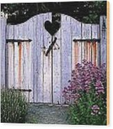 The Heart, Like An Old Gate Needs Care And Attention Wood Print