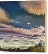The Heavy Clouds Wood Print
