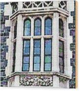 The Heritage Windows Of The Teachers' College Wood Print