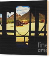 The Hills In Old Tuscon Az Wood Print