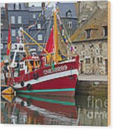 The Historic Fishing Village Of Honfleur Wood Print