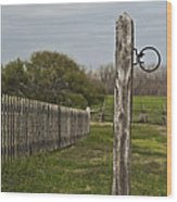 The Hitching Post Wood Print
