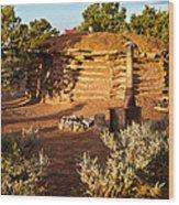 The Hogan Near Spider Rock Wood Print