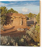 The Hogan Where  We Stayed Canyon Dechelly Nps Wood Print