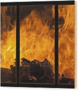 The Home Fires Are Burning Triptych Wood Print