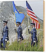 The Honor Guard Posts The Colors Wood Print