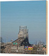 The Horace Wilkinson Bridge Over The Mississippi River In Baton Rouge La Wood Print