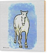 The Horse Wood Print by Bill Cannon