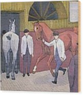 The Horse Mart  Wood Print by Robert Polhill Bevan