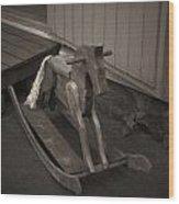 The Horse On The Alley Of Pikku Pietari In Kuopio Wood Print