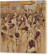 The Hounds Began Suddenly To Howl In Chorus  Wood Print