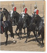 The Household Cavalry Performs Wood Print