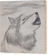 The Howler Wood Print