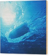 The Hull Of A Speed Boat Dingy Races Wood Print