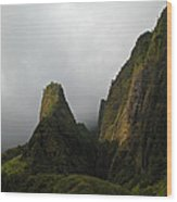 The Iao Needle Wood Print