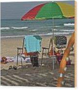 The Idyll On The Mediterranean Shore Wood Print
