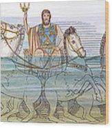 The Iliad: Neptune, 1805 Wood Print