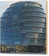 The Imposing Glass Greater London Mayoral Building On The Banks Of The Thames Wood Print