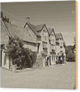 The Inn Freshford 1 Sepia Wood Print