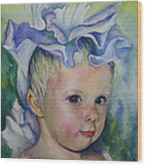 The Iris Princess Wood Print