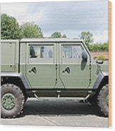 The Iveco Light Mulirole Vehicle Wood Print