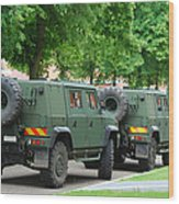 The Iveco Lmv Of The Belgian Army Wood Print