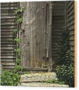 The Ivied Door Wood Print