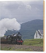 The Jacobite Express At Lochailort Church Wood Print