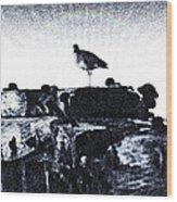 The Jetty Bird Wood Print