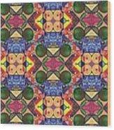 The Joy Of Design Series Arrangement Twenty Times Over Wood Print
