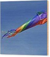 The Kaleidoscope Kite Wood Print by Rod Johnson