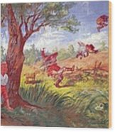 The Kansas-nebraska Act. Political Wood Print by Everett