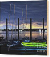 The Kayak Wood Print