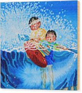 The Kayak Racer 10 Wood Print