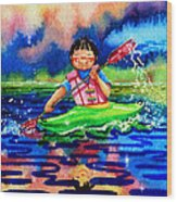 The Kayak Racer 11 Wood Print