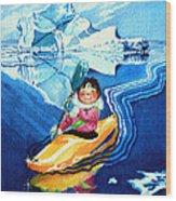 The Kayak Racer 13 Wood Print by Hanne Lore Koehler